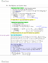 Math 3a Textbook Notes Spring 2019 Chapter 1 Row