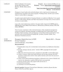 Digital Marketing Resume Template Best Of Digital Marketing Resume 24 Free Word PDF Documents Downlaod