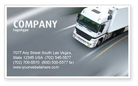 Transport Service Business Card Templates In Microsoft Word