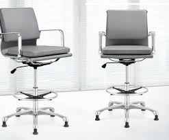 modern drafting chair. Retro Padded Grey Leather Drafting Chair Ambience Dor Intended For White Modern