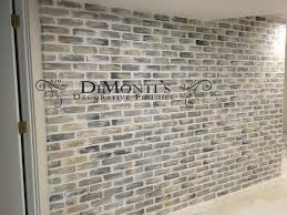 faux finished brick wall