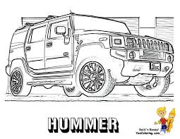 Small Picture Color Page of The Hummer Front View Coloring Sheets To Print At