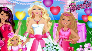 barbie wedding party dress up video game for s