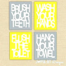 kids bathroom wall art signs kid printable for37 bathroom