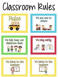 Preschool Class Rules Chart Pre K Classroom Rules Prekinders