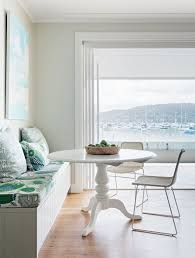 Living Room Bench Seat Dining Breakfast Nook In Kitchen With Water Views Upholstered