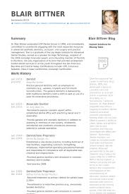 Dentist Resume Adorable Dentist Resume Samples VisualCV Resume Samples Database