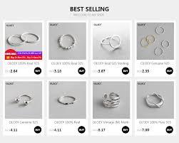 <b>OLOEY</b> 100% Real 925 Sterling Silver Jewelry Baroque Irregular ...