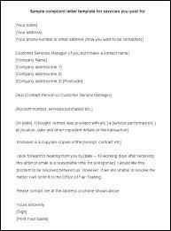 Formal Letters Of Complaint Complaint Response Template Best Formal Grievance Letter Template