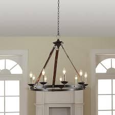 cavalier 9 light black chandelier
