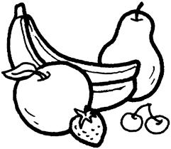 Banaan Perzik Peer Aardbei En Kersen Kleurplaat Gratis