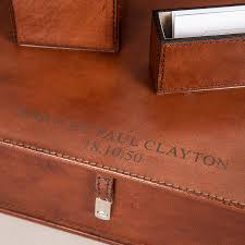 personalised leather doent box file