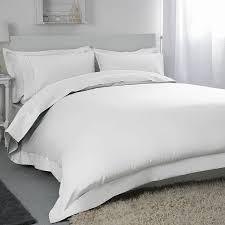belledorm white 400 thread count egyptian cotton double duvet cover