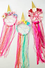 if this diy unicorn dreamcatcher makes you and your little one smile while making then be sure to a look at my cute unicorn crafts for kids