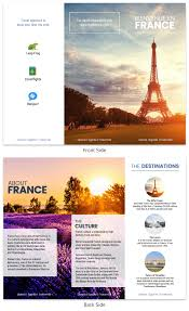 France Travel Brochure Template Venngage