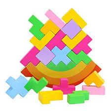 Sunsoar <b>Baby</b> Wooden Tetris Stacking Toy <b>Kids Children Jigsaw</b> ...
