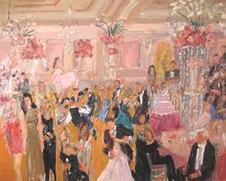 live event painting at bat mitzvah long island by joan zylkin the event painter
