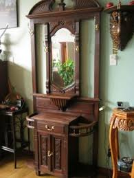 antique foyer furniture. Antique Carved Wood Hall Tree Or Entry Stand. On Kijiji Montreal. Foyer  FurnitureColonial Antique Foyer Furniture Pinterest