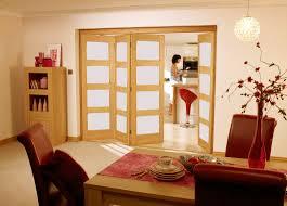 roomfold contemporary 4 light frosted glass oak internal folding sliding doors