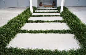 pavers with dwarf mondo grass surround