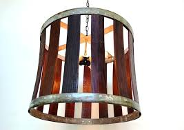 full size of shades of light wooden wine barrel stave chandelier a hand made craftsman