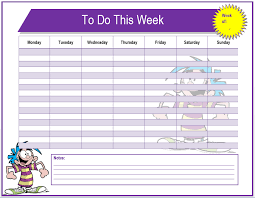 Nanny To Do List Template Weekly To Do List Template Microsoft Word Templates