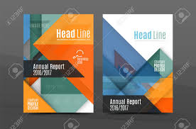 Annual Report Cover Template Squares And Triangles Annual Report Cover Template Color Business 20