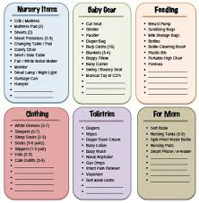 list of items needed for baby 9 best baby images on pinterest families child room and for girls