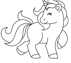 Coloring Pages Cute Unicorn Free From Pretty For Toddlers Printable
