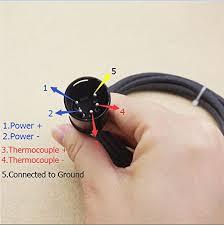 aiicioo 16mm enail coil 120 volt 100 watt with k type thermocouple 5 Home Wiring Diagrams at Diy Enail Wiring Diagram