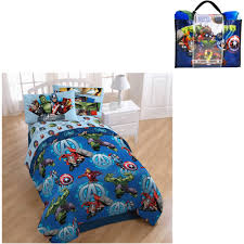 marvel avengers assemble smash 4 piece bedding set with bonus tote com