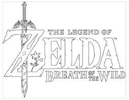 The Legend Of Zelda Breath Of The Wild Coloring Pages Zelda