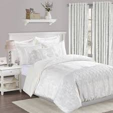 luxury 3 piece white velvet bedding set