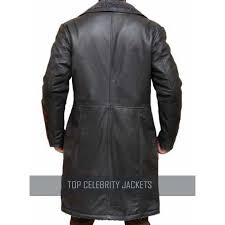 squad captain boomerang leather trench coat top celebrity jackets