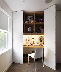 hidden desk furniture. A Built-in Desk Wardrobe Conveniently Utilises Wasted Space In The Hidden Furniture S