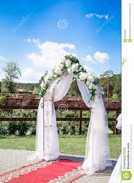 Wedding Arch Decorations Wedding Arch With White Flowers Stock Photo Image 65235593