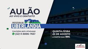AULÃO GRATUITO - CONCURSO PREFEITURA DE UBERLÂNDIA 2019 - YouTube