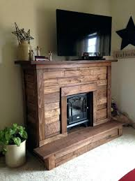 faux mantle free standing electric fireplace with pallet wood within prepare 1