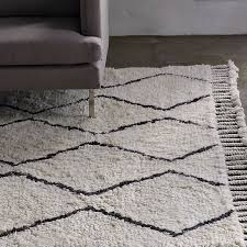 white and black rug pertaining to marvelous souk wool ivory west elm interior inspirations architecture