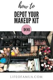 professional makeup artist kit how to depot your makeup kit