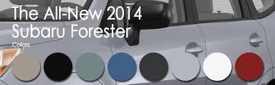 2019 Subaru Color Chart The New 2014 Subaru Forester Exterior Color Options