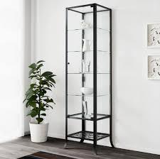 ikea klingsbo glass door cabinet black clear 45x180 pre