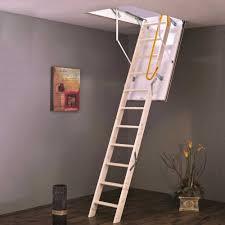 home pro heavy duty wooden attic ladder