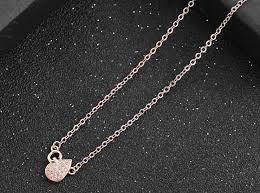 necklace 925 sterling silver rose gold waterdrop