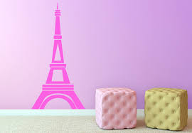 Small Picture Eiffel Tower Design Wall Decal Paris Vinyl Decor