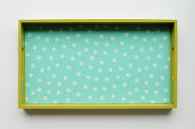 DIY Oilcloth Covered Tray