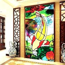 stained glass appliques window clings for privacy decorative frosted bathroom stickers windows home depot