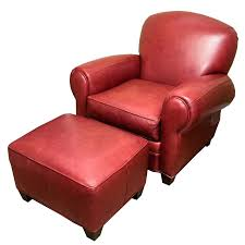 superb red leather ottomans red leather chairs with ottomans