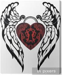 Obraz Anděl Wingslove Tetování Na Plátně