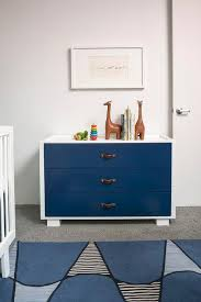 blue dresser for boy. Fine Blue White And Navy Nursery Dresser With Leather Straps With Blue For Boy